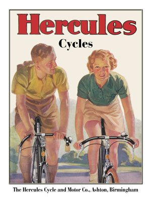 Hercules Cycles Poster