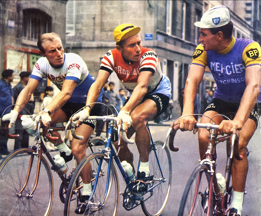 Darrigade Anquetil Poulidor at the Tour de France